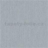 Vliesové tapety na stenu IMPOL Giulia jednofarebná sivá s jemnými metalickými prúžkami