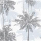 Vliesové tapety na stenu IMPOL Giulia palmy sivo-modré