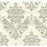 Vliesové tapety na stenu Glamour zámocký vzor zlatý na krémovom podklade