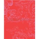 Tapety Glööckler Childrens Paradise - ornament ružový na červenom podklade