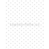 Tapety Glööckler Childrens Paradise - bodky sivé na bielom podklade