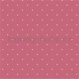 Vliesové tapety na stenu bodky na ružovom podklade