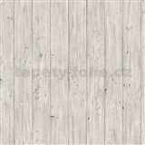Vliesové tapety na stenu Facade drevené dosky sivé
