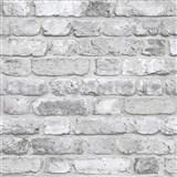 Vliesové tapety na stenu Facade tehla bielo-sivá