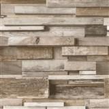 Vliesové tapety na stenu Facade drevený múr hnedý