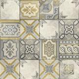 Vliesové tapety na stenu Facade Marokany kachlice sivé, biele, okrové