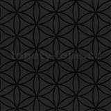 Vliesové tapety na stenu Graphics Alive - geometrické kvety čierne
