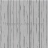 Vliesové tapety na stenu Graphics Alive - prúžky strieborné