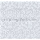 Tapety na stenu Grazioso zámocký vzor biely na svetle fialovom podklade