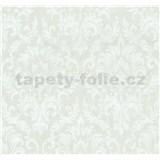Tapety na stenu Graziosa zámocký vzor biely na svetlo hnedom podklade