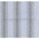 Tapety na stenu Grazioso pruhy hnedo-modré