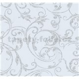 Tapety na stenu Grazioso ornament tmavo sivý na bielom podklade