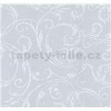 Tapety na stenu Graziosa ornament biely na sivom podklade
