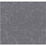 Tapety na stenu Graziosa ornament fialovo-sivý
