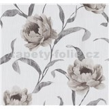 Tapety na stenu Graziosa kvety svetlo hnedé