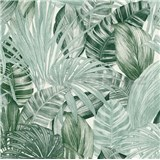 Vliesové tapety na stenu Greenery florálny vzor čierno-zelený