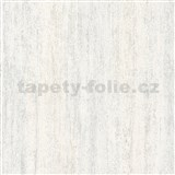 Vliesové tapety na stenu IMPOL Hailey vertikálna stierka hnedo-biela s trblietkami