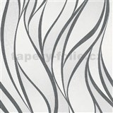 Vliesové tapety na stenu IMPOL Hailey vlnovky čiernobiele