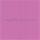 Papierové tapety na stenu Happy Kids 2 - geometrické kvetinky ružové