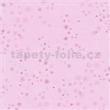 Papierové tapety na stenu Happy Kids 2 - kytičky ružové na ružovom podklade