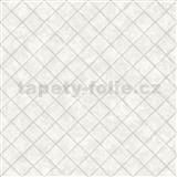 Vliesové tapety na stenu Hexagone štvorce svetlo sivé s lesklým efektom