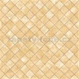 Vliesové tapety na stenu Hexagone štvorce hnedé s lesklým efektom