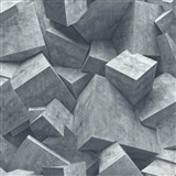 Vliesové tapety na stenu Hexagone 3D kocky svetlo sivé