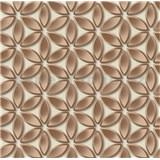 Vliesové tapety na stenu Hexagone kvety medené