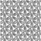 Vliesové tapety na stenu Hexagone kvety strieborné