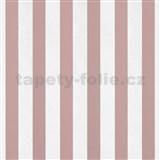 Papierové tapety na stenu pruhy ružové a biele lesklé