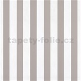Papierové tapety na stenu pruhy hnedé a biele lesklé