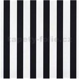 Papierové tapety na stenu pruhy čierne a biele lesklé - POSLEDNÝ KUS
