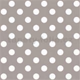 Papierové tapety na stenu hnedá s bielymi lesklými bodkami