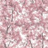 Vliesové tapety na stenu Home rozkvitnuté stromy ružové
