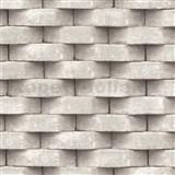 Vliesové tapety na stenu Horizons 3D tehla béžová
