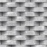 Vliesové tapety na stenu Horizons 3D tehla sivá