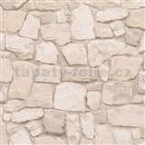 Papierové tapety na stenu Il Decoro kameň svetlo hnedý