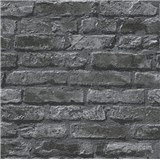 Papierové tapety na stenu Il Decoro tehlová stena čierna
