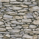 Papierové tapety na stenu Il Decoro ukladaný kameň hnedo-sivý