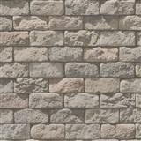 Papierové tapety na stenu Il Decoro kameň hnedý