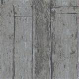 Vliesové tapety na stenu Imagine drevený obklad sivo-hnedý s výraznou štruktúrou