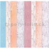 Papierové tapety na stenu It's Me Vintage dosky oranžové, růžové, modré