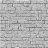 Papierové tapety na stenu It's Me tehla svetlo sivá