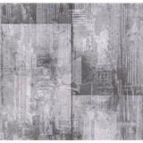 Papierové tapety na stenu It's Me betónové bloky tmavo sivé