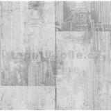 Papierové tapety na stenu It's Me betónové bloky svetlo sivé