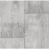 Papierové tapety na stenu It's Me betónové bloky svetlo hnedé - POSLEDNÉ KUSY