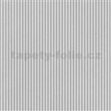 Papírové tapety na stenu Je T´aime jemné prúžky sivo-biele