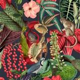 Vliesové tapety na stenu IMPOL Jungle Fever - fauna a flóra ružovo-zelená