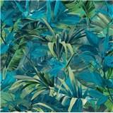 Vliesové tapety na stenu IMPOL Jungle Fever - listy zeleno-tyrkysové
