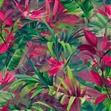 Vliesové tapety na stenu IMPOL Jungle Fever - listy ružovo-zelené